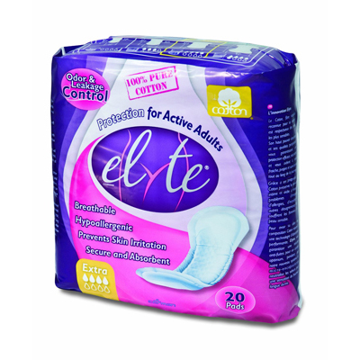 Elyte Light Cotton Incontinence Pads - Xtra - 20 Pack: HF