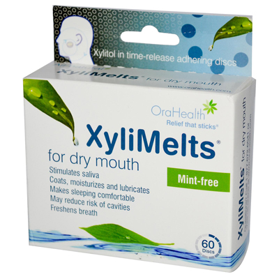 Xylimelts For Dry Mouth - Mint Free - 60 Pieces: HF