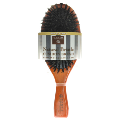 Earth Therapeutics Natural Bristle Cushion Brush - 1 Brush: HF