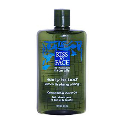 Kiss My Face Bath and Shower Gel Early to Bed Clove and Ylang Ylang - 16 fl oz: HF