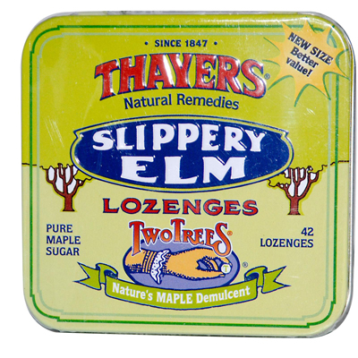 Thayers Slippery Elm Lozenges Maple - 42 Lozenges - Case of 10: HF