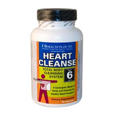 Health Plus Heart Cleanse Total Body Cleansing System - 90 Capsules: HF
