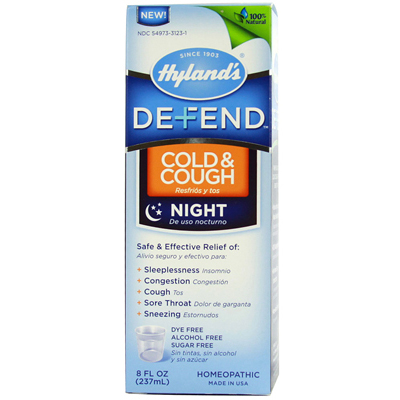Hyland's Defend Cold and Cough Night - 8 fl oz: HF