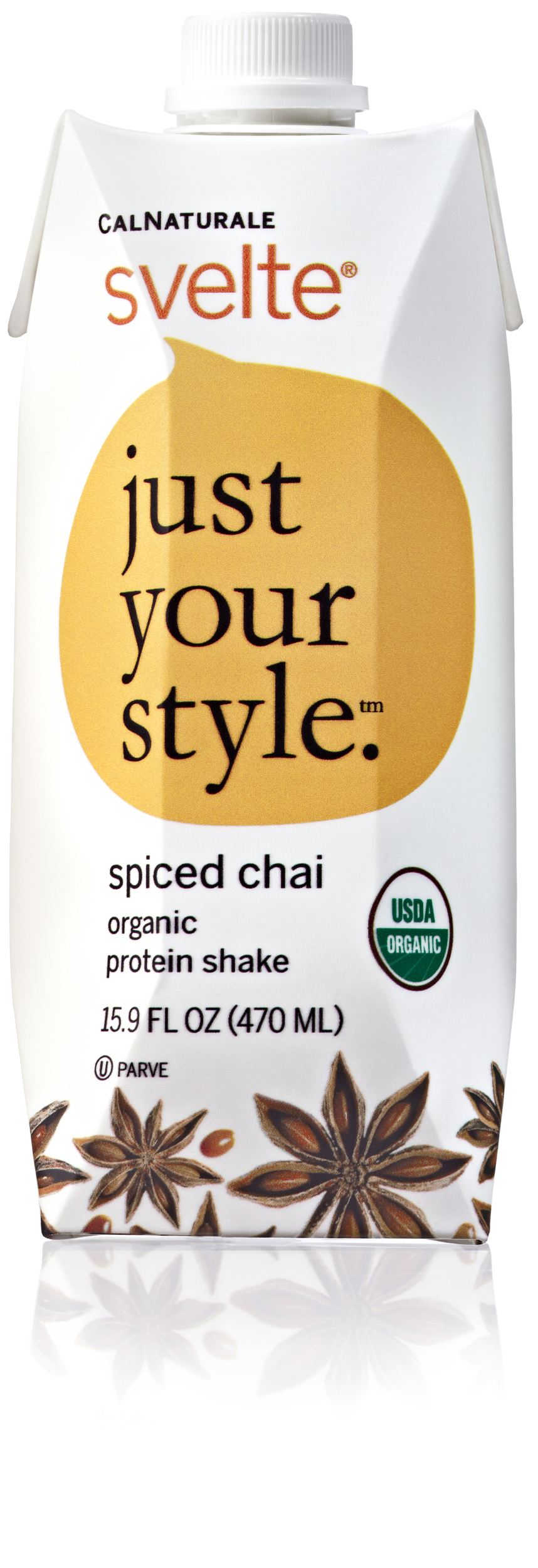 Svelte Protein Shake - Organic Spiced Chai - 15.9 oz - Case of 6: HF