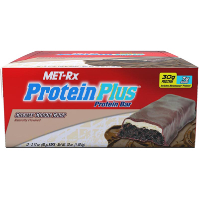 Met-Rx Protein Plus Protein Bar - Creamy Cookie Crisp - Case of 12 - 60 Grams: HF