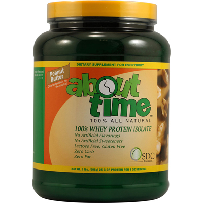 About Time Whey Protein Isolate Peanut Butter - 2 lbs: HF