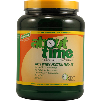 About Time Whey Protein Isolate Unflavored - 2 lbs: HF