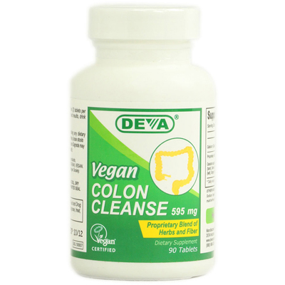 Deva Vegan Colon Cleanse - 595 mg - 90 Tablets: HF