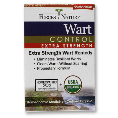 Forces of Nature Organic Wart Control - Extra Strength - 11 ml: HF