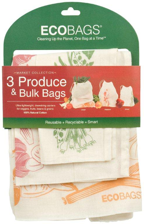 ECOBAGS Market Collection Set of 3 Produce and Bulk Bags - 1 Set of 3 Bags: HF