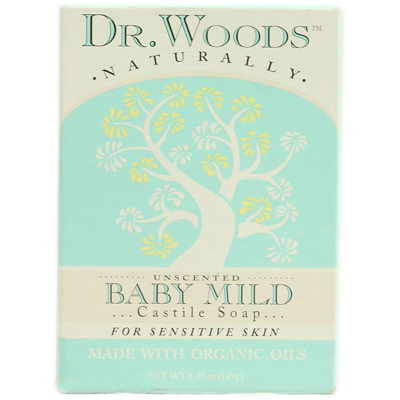 Dr. Woods Bar Soap Baby Mild Unscented - 5.25 oz: HF