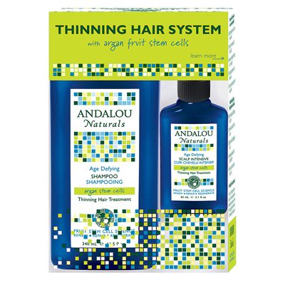 Andalou Naturals Thinning Hair System with Argan Fruit Stem Cells - 3 Pieces: HF