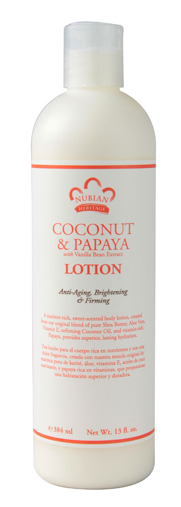 Nubian Heritage Lotion - Coconut and Papaya - 13 oz: HF