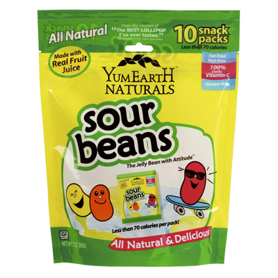Yummy Earth Naturals Sour Jelly Beans Snack Packs - 10 Packs: HF