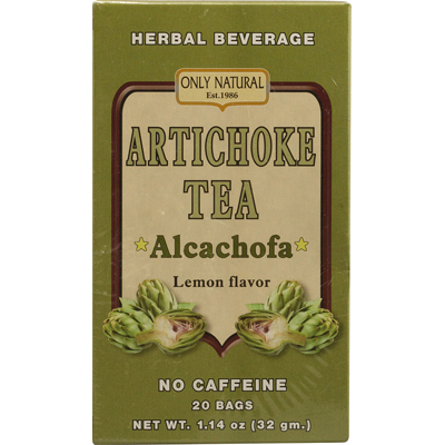Only Natural Artichoke Tea Caffeine Free Lemon - 20 Tea Bags: HF