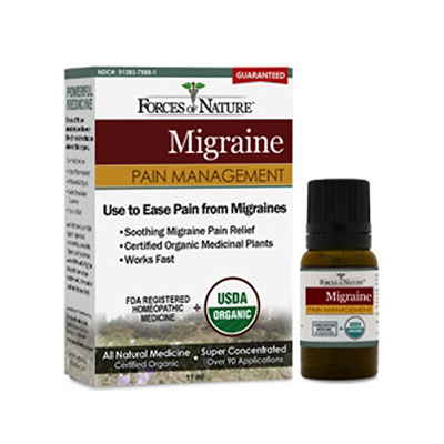 Forces of Nature Organic Migrane Pain Management - 11 ml: HF