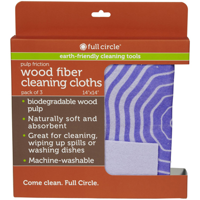 Full Circle Home Pulp Friction Clean Cloth - Case of 6 - 3 Pack: HF