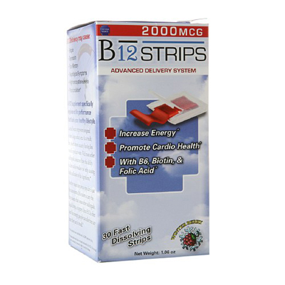 Essential Source B12 Strips with B6 and Biotin - 30 Pack: HF