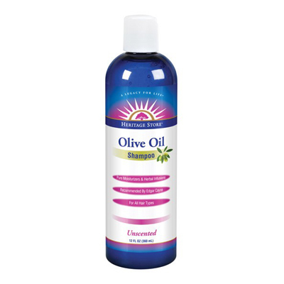 Heritage Store Olive Oil Shampoo - Unscented - 12 oz: HF
