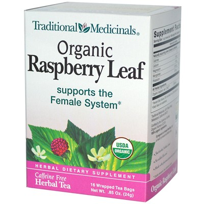 Traditional Medicinals Organic Raspberry Leaf Herbal Tea - 16 Tea Bags - Case of 6: HF