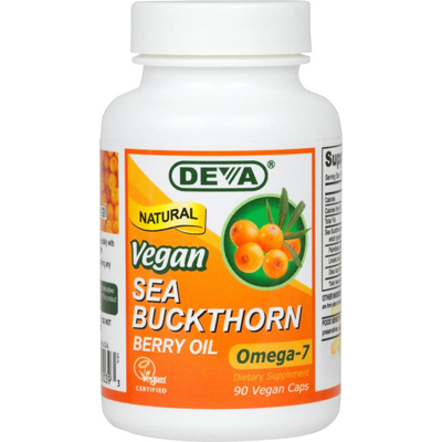 Deva Vegan Vitamins Sea Buckthorn Oil - 90 Vcaps: HF