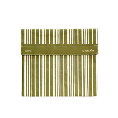 Lunchskins Sub Bag - Green Vertical Stripe: HF