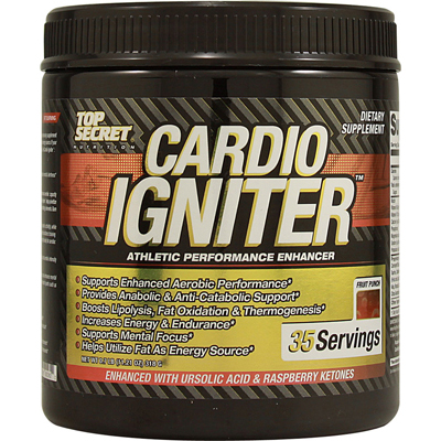 Top Secret Nutrition Cardio Igniter - Fruit Punch - 11.21 oz: HF