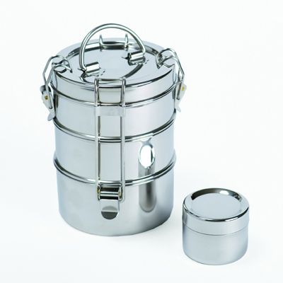 To-Go Ware 3 Tier Stainless Steel Lunchbox: HF