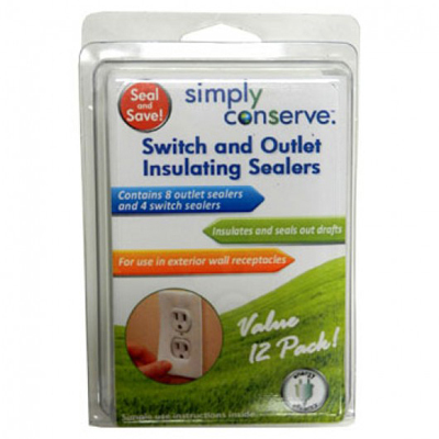 Simply Conserve Switch and Out Insulating Seal - 12 Seals: HF