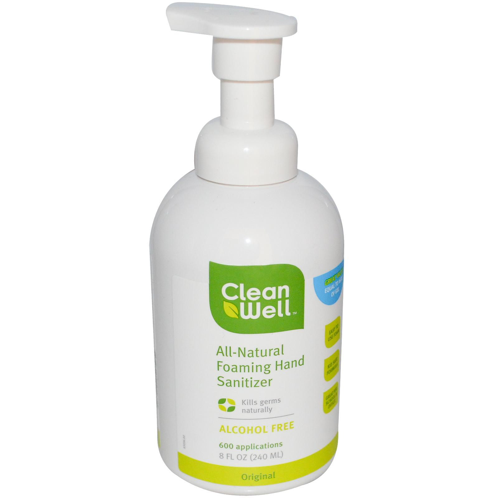 CleanWell All-Natural Foaming Hand Sanitizer - 8 oz: HF