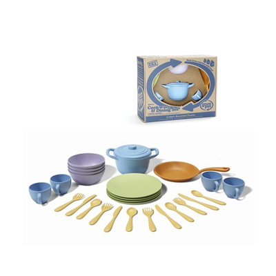 Green Toys Cookware and Dinnerware Set - 27 Piece Set: HF