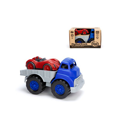 Green Toys Flatbed Truck with Red Racecar: HF
