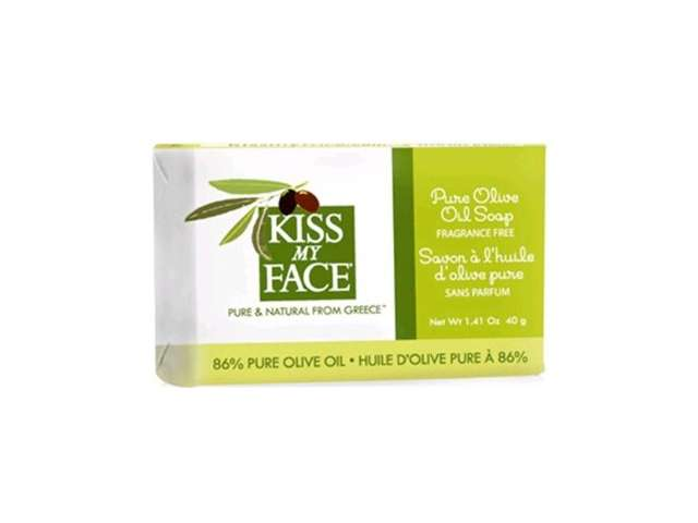 Kiss My Face Bar Soap - Pure Olive Oil - Travel Size - Pack of 12 - 1.41 oz: HF