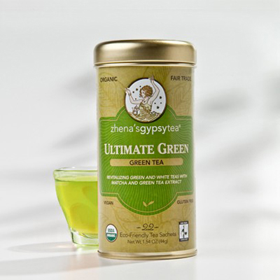 Zhena's Gypsy Tea Ultimate Organic Green Tea - Case of 6 - 22 Bags: HF