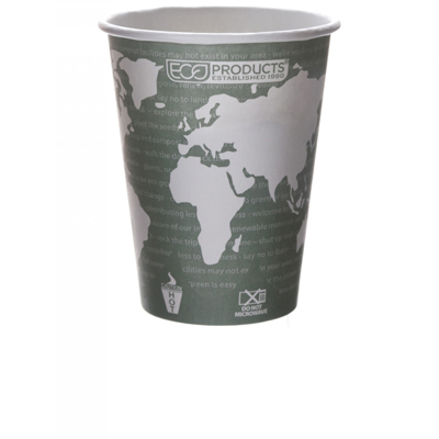 Eco-Products 12 oz World Art Hot Cup - Case of 1000: HF