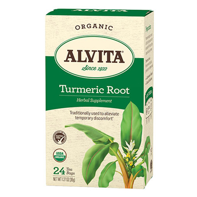 Alvita Teas Organic Herbal Tumeric Tea - 24 Bags : HF