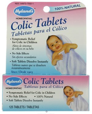 Hylands Homeopathic Baby Colic Tablets - 125 Tablets: HF