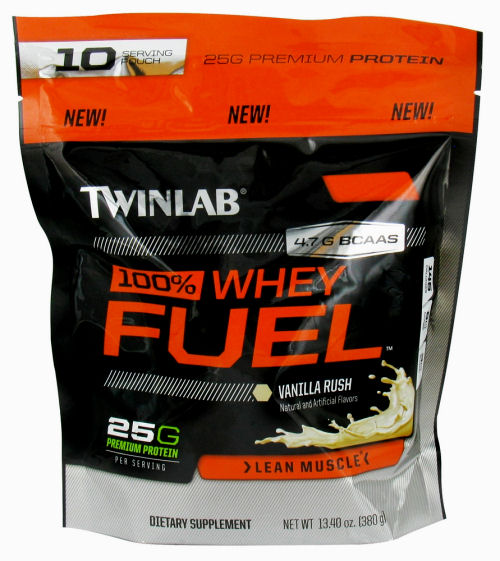 Twinlab 100% Whey Fuel - Vanilla - 10 Servings - 13.4 oz: HF