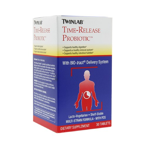 Twinlab Time-Release Probiotic - 30 Tablets: HF