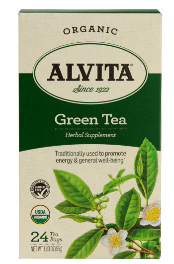 Alvita Organic Green Tea Herbal Supplement - 24 Tea Bags: HF