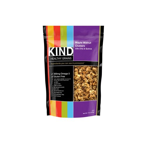 Kind Fruit and Nut Bars Clusters - Maple Walnut with Chia and Quinoa - 11 oz - Case of 6: HF