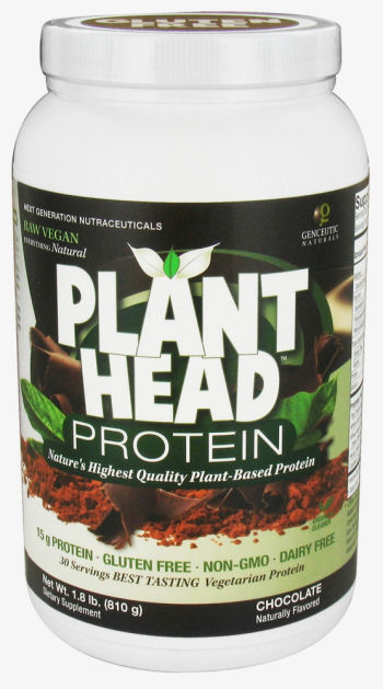 Genceutic Naturals Plant Head Protein - Chocolate - 1.7 lb: HF