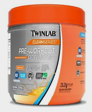 Twinlab Cleanseries Pre-Workout Activator- Vanilla - 450 grm: HF