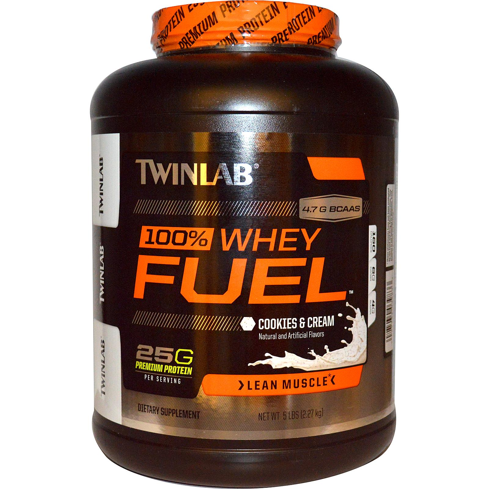 Twinlab 100% Whey Fuel - Cookies and Creme - 5 lb: HF