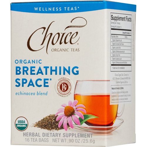 Choice Organic Teas - Organic Breathing Space Tea - 16 Bags - Case of 6: HF
