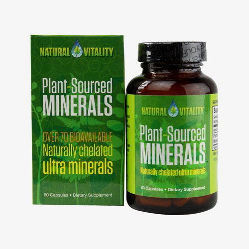 Natural Vitality Plant Sourced Minerals - 60 Vegan Capsules: HF