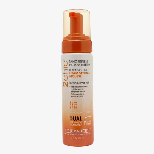 Giovanni Hair Care Products 2chic Style Mousse Tangerine & Papaya Butter - Ultra-Volume - 7 fl oz: HF
