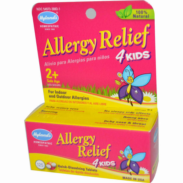 Hylands Homeopathic Allergy Relief 4 Kids - 125 Tablets: HF