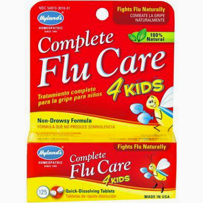 Hylands Homeopathic Complete Flu Care 4 Kids - 125 Tablets: HF