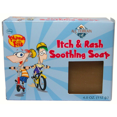 All Terrain Soap - Itch and Rash Soothing - Kids Phineas and Ferb - 4 oz: HF